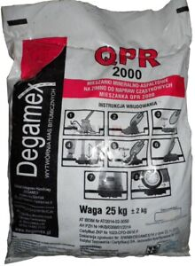 25kg Reparaturasphalt Kaltasphalt Kaltmischgut Körnung 0-8mm 0,60€/kg