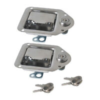 2pcs Stainless Steel Lockable Toolbox Latch TriMark Tool Box RV Handle Latch