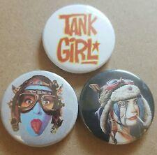 Tank Girl pin back badge set
