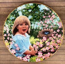 The Hamilton Collection Sara Decorative Plate Treasured Days Higgins Bond 1987