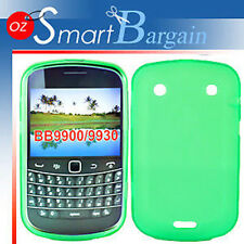 New GREEN Soft Gel TPU Cover Case For BlackBerry Bold 9900 + Screen Protector