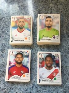 Panini World Cup Russia 2018 - Choose 20 stickers In Great Unstuck Condition