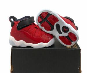 Nike Jordan 6 Rings TD Gym Red Black White 323420-601 Size 4c no lid