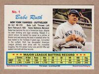 Babe Ruth '27 New York Yankees 60 HR season, 20th Century series #1 near mint+
