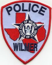 WILMER TEXAS TX POLICE PATCH