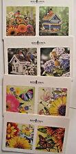 Chipboard Coasters Butterflies & Song Birds Art Boys Town Double Side Set of 8