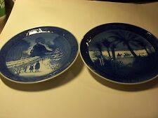 "Pair of Royal Copenhagen Decorative Plates ""In The Desert & Going Home For Xmas"""