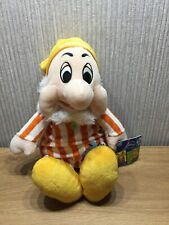 Disney Sneezy Plush Teddy Soft Toy Collectable Snow White & 7 Dwarfs 14 Inch New