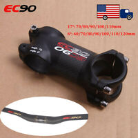 EC90 MTB Bike Stem Full Carbon Fiber 28.6mm Bar Stems 31.8*760mm Riser Handlebar