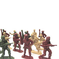 50pcs Green / Brown Military Toy Soldiers modello militare Playset crit