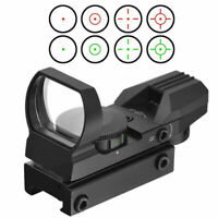 Red Dot Sight Reflex Holographic 4 Reticle Scope Tactical Optics Mount 11mm Rail