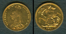 1889 Great Britain Queen Victoria Sovereign 22K Yellow GOLD Coin