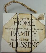 "Home Family Blessing Inspirational Wood Sign Plaque Hanging Wall Art 7""H #268"