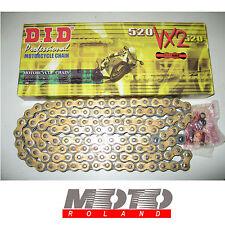 CATENA da MOTO DID passo 520 VX2 X-RING ORO 100 maglie G&B X-RING PROMOZIONE