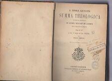 s.thomae aquinatis summa theologica - tomus tertio -et 4 arm spogl