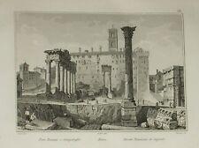 1836:ROMA,Foro Romano e Campidoglio.Inc/Acciaio.AUDOT.