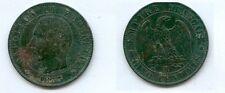 **gertbrolen 5 Centimes bronze Napoléon III Tête nue 1855  Marseille  Ancre