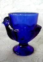 Collectible Cobalt Blue Glass Chicken / Hen Egg Cup - NEW - Made in France