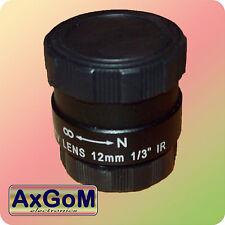 12mm CS-Objektiv für Überwachungskamera  Fix Iris
