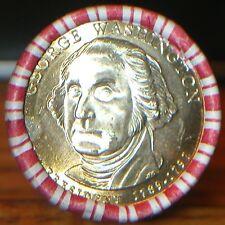 2007-D OBW GEORGE WASHINGTON GOLDEN DOLLAR 1ST PRESIDENT ORIG BANK WRAP $25 ROLL