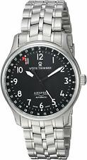 Revue Thommen Airspeed Classic Automatic Black Dial Silver Mens Watch 16005.2137