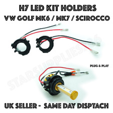 2X H7 LED KIT BULB HOLDERS GOLF MK6 MK7 VW SCIROCCO TOURAN NIGHTEYE LED ADAPTERS