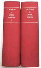 E. DE CRAUZAT : LA RELIURE FRANÇAISE DE 1900 À 1925 2 volumes rééd.1999 1/500 ex