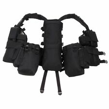 Military Spec Ops Tactical Police Vest with Various Pockets - Police Black - New
