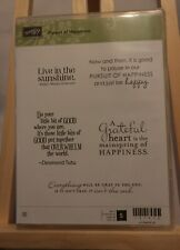 "Stampin' Up! ""Pursuit of Happiness"" Set of 5 Rubber Stamps - Appear Unused"