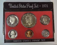 1974-S Proof Set Ike Dollar Half Quarter Dime Nickel Cent Us Mint 6 Coins w/Box