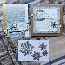 Shopaperartz SNOWFLAKES CHRISTMAS SET OF 4 CUTTING DIES FITS SIZZIX CUTTLEBUG
