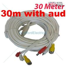 New 30M BNC Video DC Power Cable Lead For CCTV Camera DVR AUDIO
