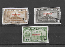 Venezuela 1938 -1940 AEROS SCOTT C100,C137,AND C139 MNH SPECIMENS.
