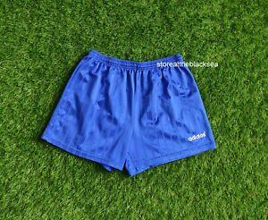 VINTAGE ADIDAS 1980'S 1990'S SHORTS FOOTBALL SOCCER BLUE WHITE MEN