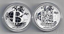 Physical  1 Oz Collection Bitcoin silver coin