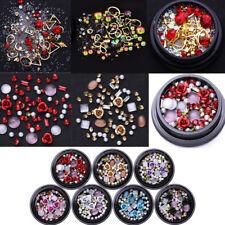 3D Nail Art Rose Rhinestones Jewelry Gems Mix Decoration Glitter  DIY