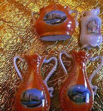 3 Vintage vases of Southend Souvenir 1 with scene