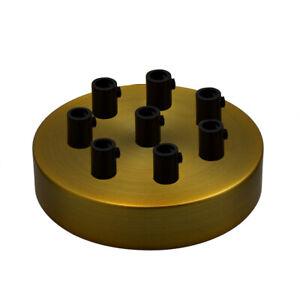Einzel & Multi Lampen Baldachin Metall Deckenbaldachin inkl. Zugentlastung 120mm