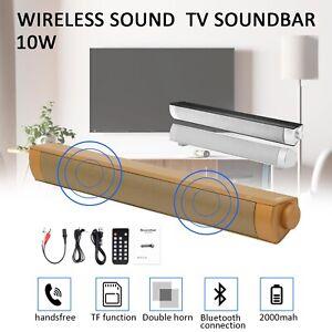 Bluetooth 5.0 Wireless TV Sound Bar Speaker 3D Sound Bar Home Theater Subwoofer