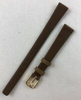 Kreisler Genuine Calfskin 11mm Non-Stitched Brown Ladies Leather Watch Band W120