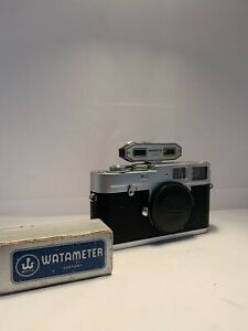 Leica M1 Film Rangefinder M Mount Camera Body With Light Meter And Watameter RF
