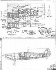Supermarine Spitfire Original Blueprint Plans rare period WW2 Drawings 1940's