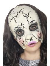 China Doll Face Mask Damaged Broken Doll Halloween Fancy Dress Mask