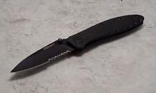 Coast Lx325 Liner - Lock Black Straight Blade Folding Knife In Gift Box Nib