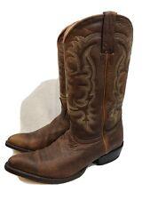 Los Altos Leather Western Cowboy Boots Men's US Size 8.5 EE Walnut Rage 989940