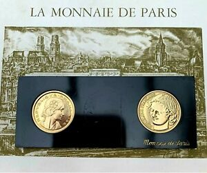 CONCOURS 2 x 20 CENTIMES 1961 ESSAI DE R Cochet et R B Baron En Coffret FRANCS