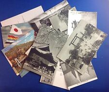 14 VINTAGE JAPANESE POSTCARDS, COLOR & B&W, SCENIC VIEWS & INDOOR SETTINGS