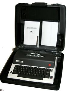 VTG Olympia X-L12 Electric Typewriter Elite Wide Carriage w Molded Case Works VG