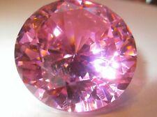 1 CZ rosa / rose, 18 mm  rund,  Brillantschliff Zirkonia synthetischer Edelstein