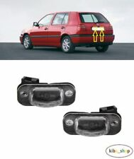 VW GOLF MK3 III 3 1992 - 1998 2X NEW REAR NUMBER PLATE LIGHT LAMP LEFT + RIGHT